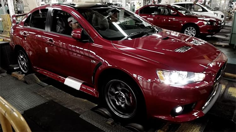Not a dry eye in the house for last Mitsubishi Evo X video