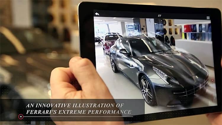 Ferrari introduces trick new augmented reality showroom