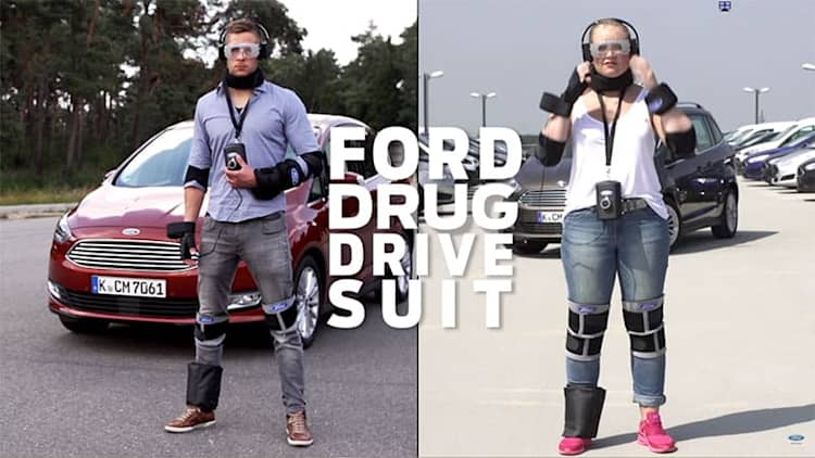 Ford suits up to show off drugged driving dangers