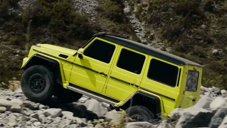 Promo video shows what the Mercedes G500 4x4 can do