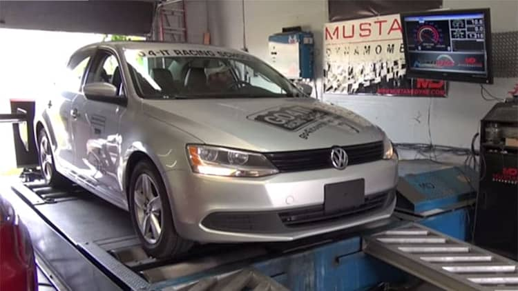 VW Jetta TDI dyno shows HP loss trying to recreate cheat mode