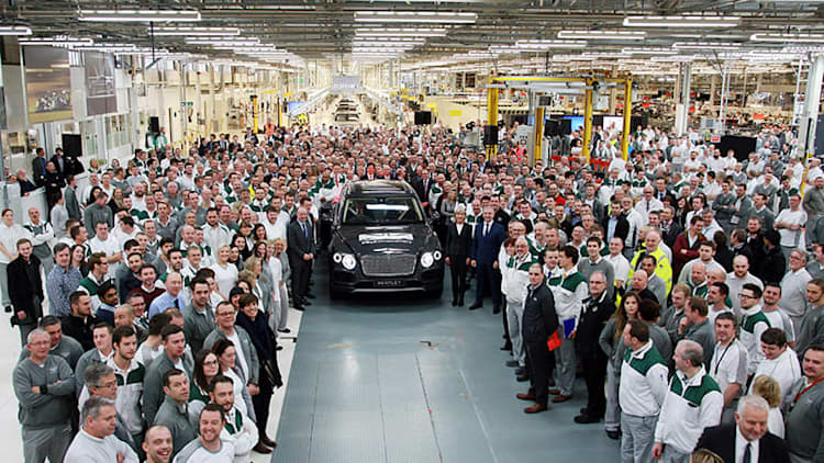 First production Bentley Bentayga rolls off the line