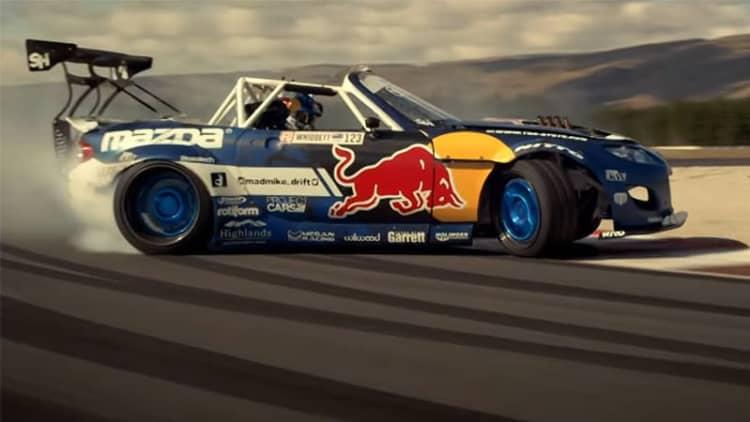 Watch this 1,500-hp Mazda MX-5 smoke a race track