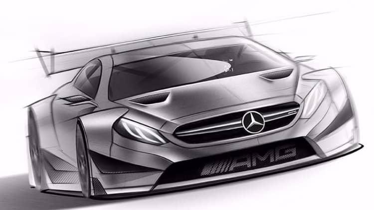Mercedes sketches new DTM C-Class
