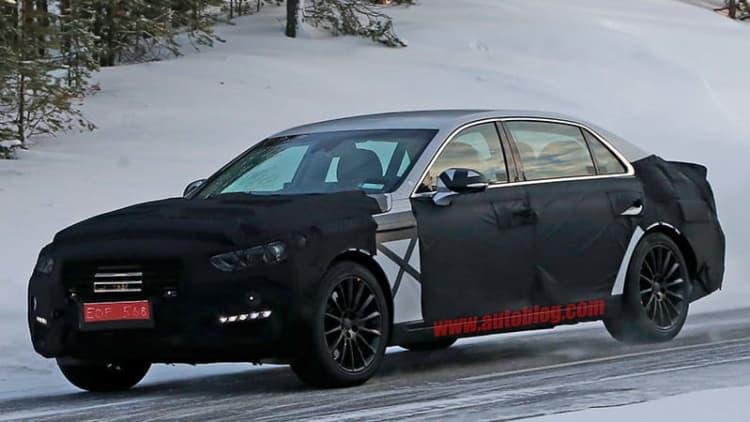 2017 Hyundai Equus spied testing in the Arctic Circle