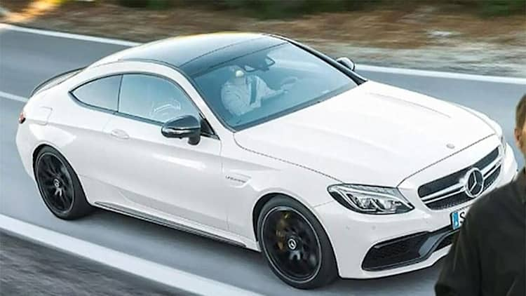 Mercedes-AMG C63 Coupe caught on a presentation slide