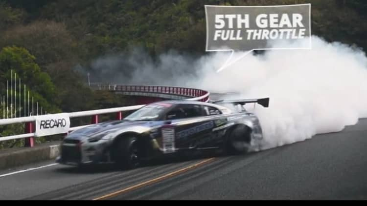 Mazda Turnpike in Japan shut down for racing