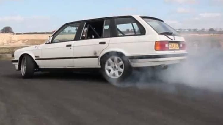 Watch BMW 3 Series drift in Scotland