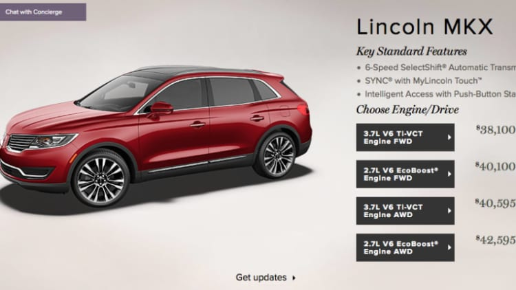 Lincoln drops MKX base price to $38,995