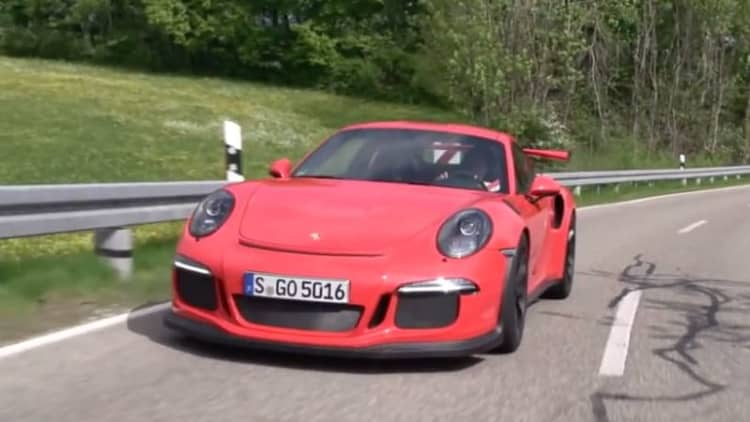 Chris Harris hits the track in the Porsche 911 GT3 RS