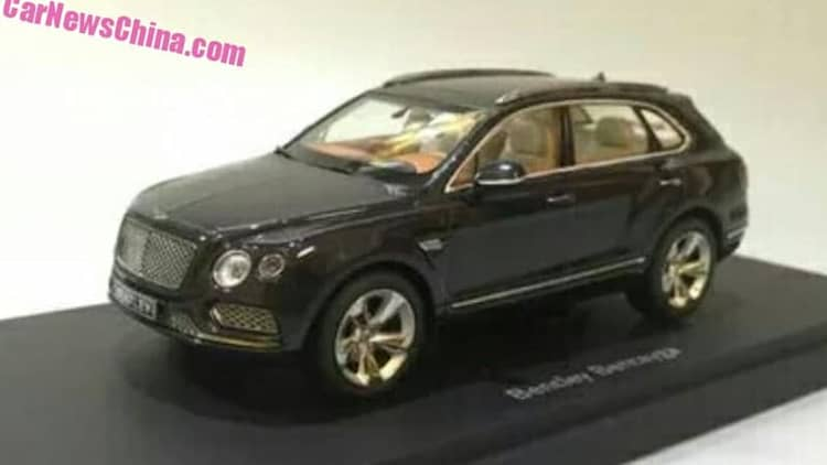 Bentley Bentayga leaks out in miniature form
