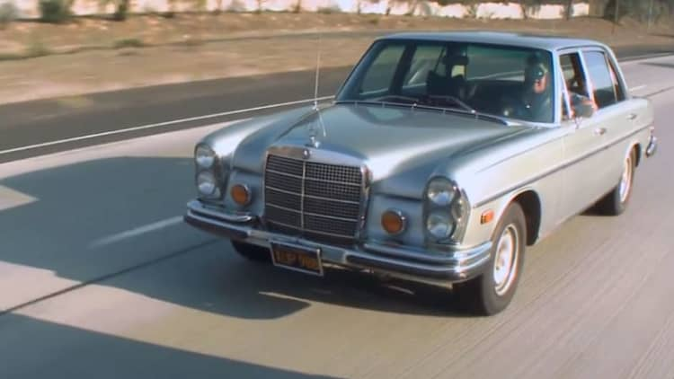 Jay Leno listens to the people, shows off still-stock 1972 Mercedes 300 SEL 6.3