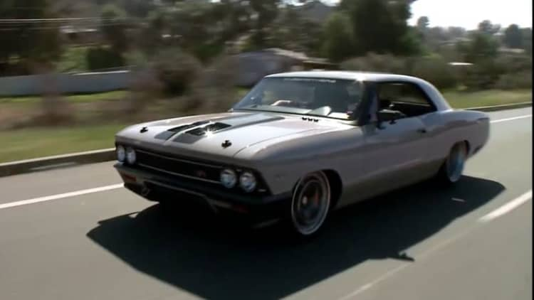 Leno drives Ringbrothers' latest, 1966 Chevy Chevelle Recoil