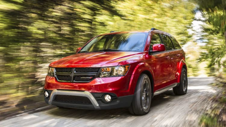 Dodge Journey recalled for freezing fluid lines