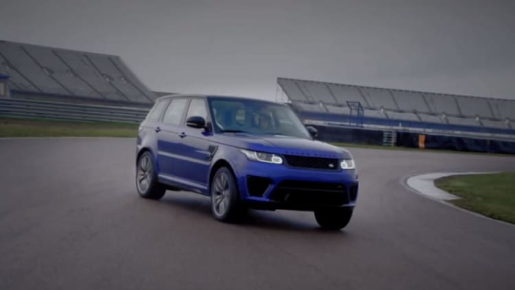 Range Rover Sport SVR hangs its tail out at Rockingham