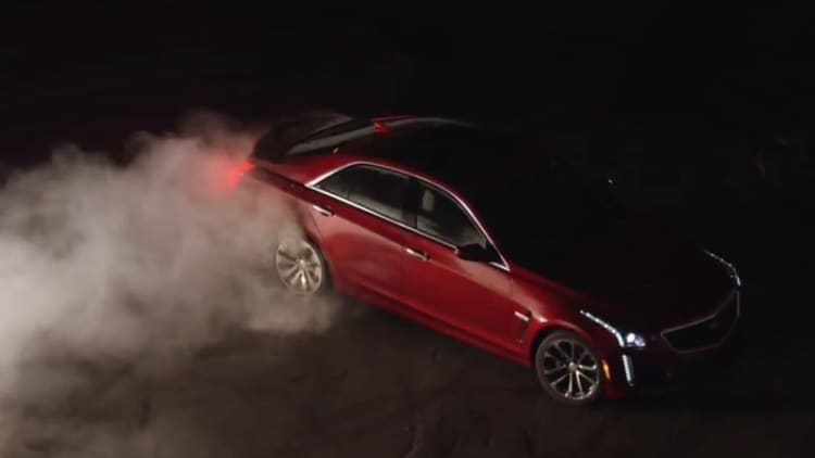 Hear the new Cadillac CTS-V torture some tires