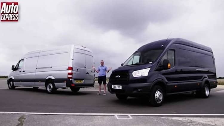 Mercedes-Benz Sprinter and Ford Transit can haul on the track