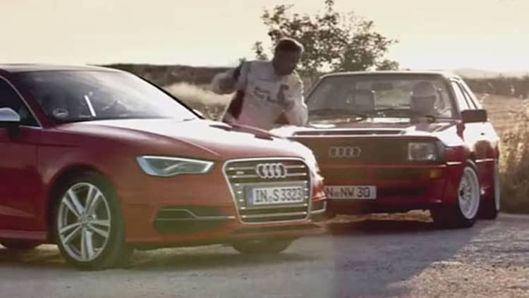 Audi pits S3 against Ur-Quattro on gravel