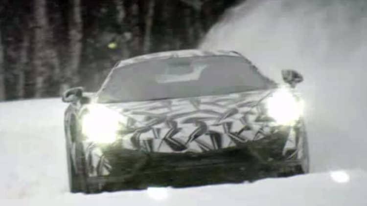McLaren Sports Series plays in snow ahead of New York debut