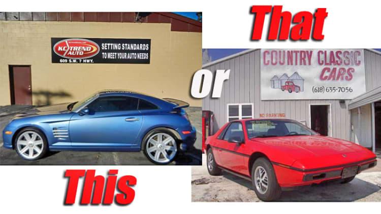 This or That: 2005 Chrysler Crossfire SRT6 vs. 1984 Pontiac Fiero