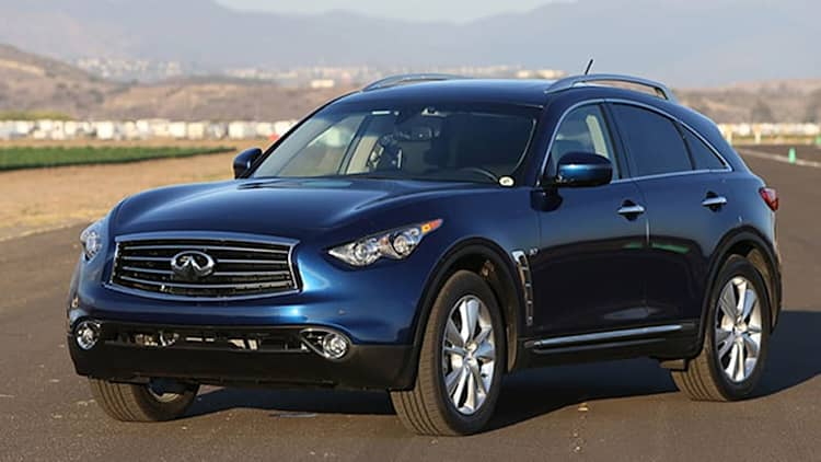 Infiniti QX70 drops V8 for 2015, holds line on pricing