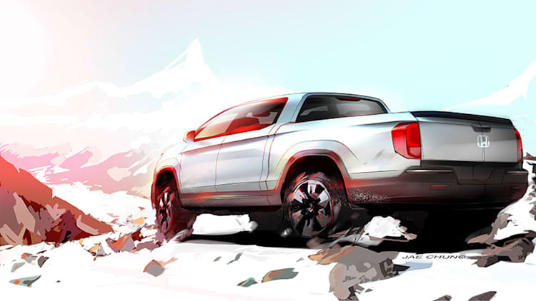 Next Honda Ridgeline previewed in sketch