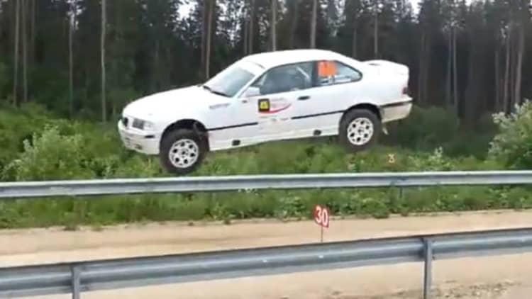 Watch this BMW take flight at Viru Rally