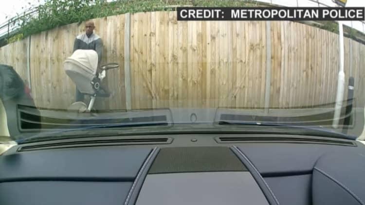 London man keys $150k Aston Martin while pushing stroller