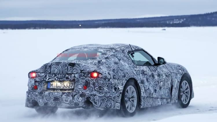The new Toyota Supra sounds good in this snowy spy video