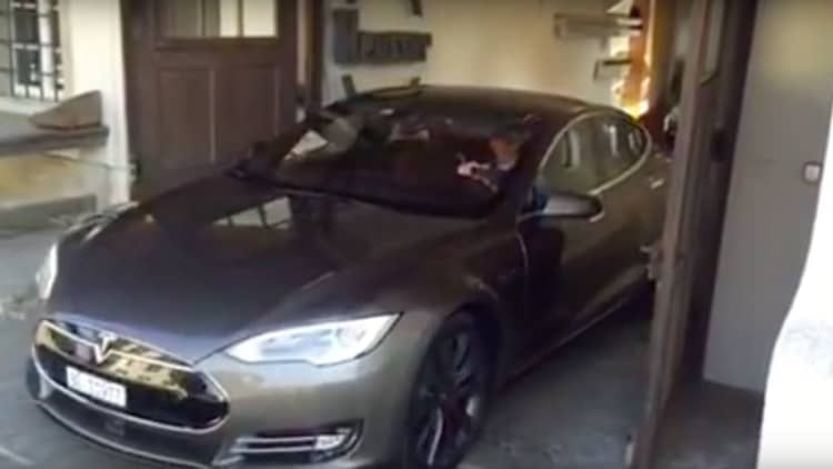 Inventive Tesla Model S owner uses waterfall to recharge EV