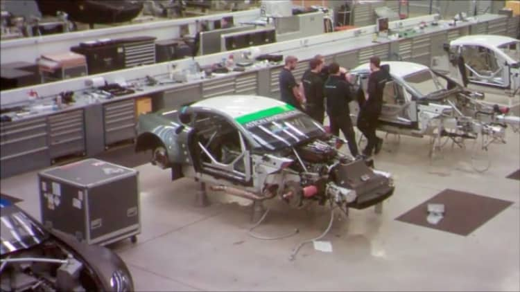 Watch Prodrive build an Aston Martin race car in 60 seconds