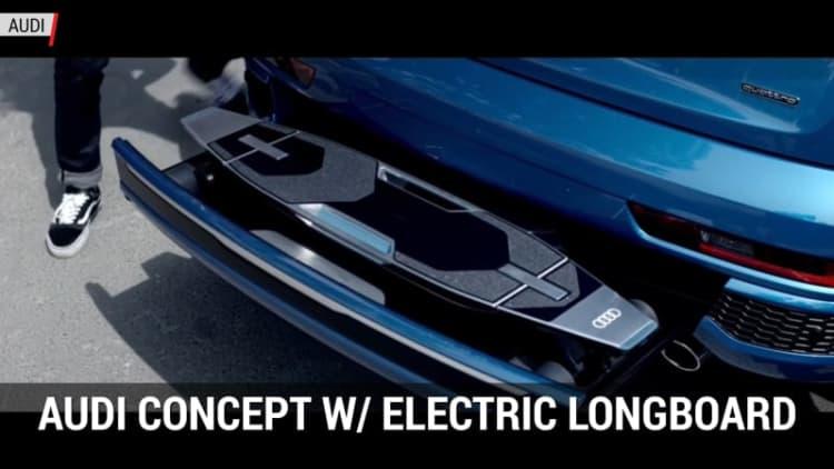 Audi put an electric longboard in the bumper of a Q3 | Autoblog Minute