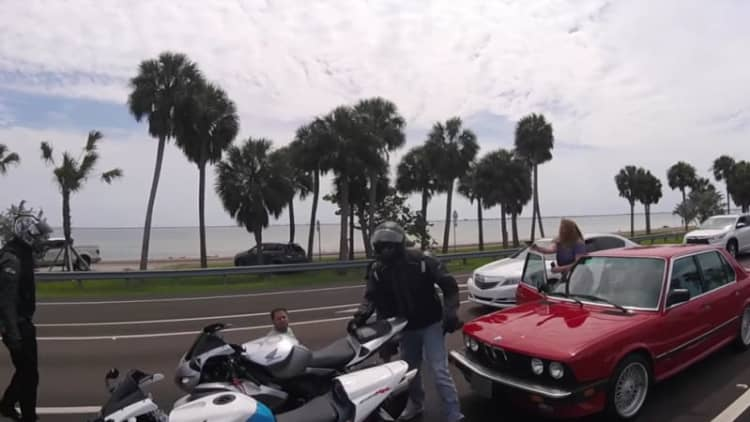 Florida bikers threatened at gunpoint for beating motorist