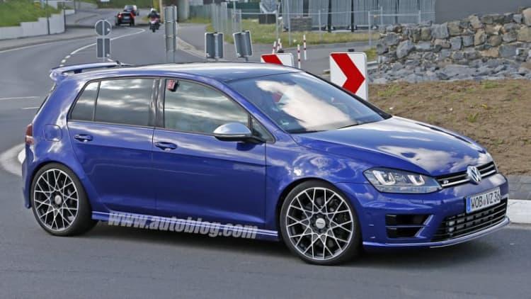 Volkswagen caught testing hotter Golf R 400