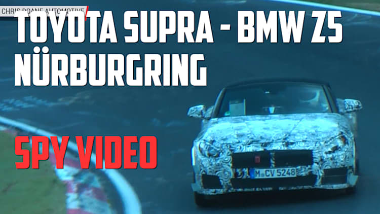 The new Toyota-BMW sportscar is testing at the Nurburgring
