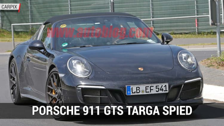 Porsche 911 GTS Targa spied at the 'Ring | Autoblog Minute