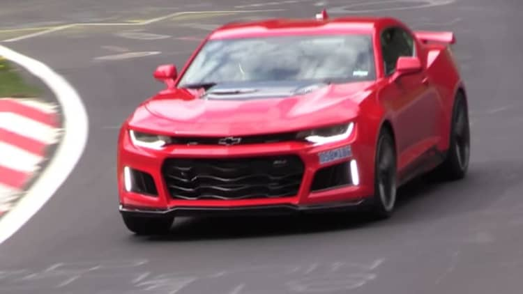 Chevy Camaro ZL1 spotted at Nurburgring looking mean
