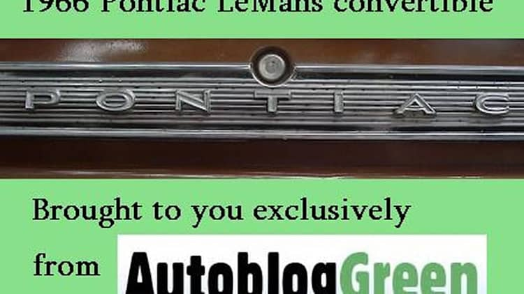 In the AutoblogGreen Project Garage: 1966 Pontiac LeMans convertible