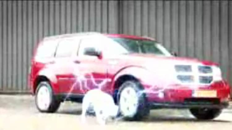 It's Dodge Nitro vs. dog in