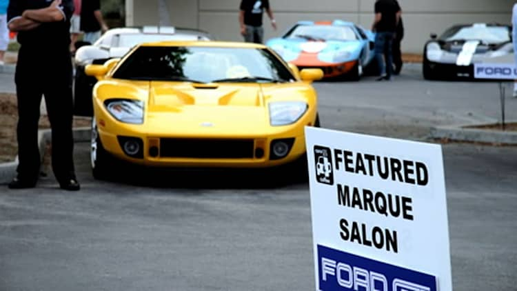 Ford GT National Rally II stops at Cars & Coffee event