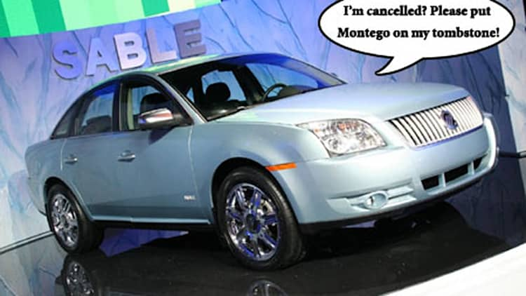 Mercury Sable dies along with Taurus X