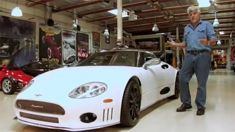 Video: Jay Leno welcomes Spyker C8 Laviolette into his garage