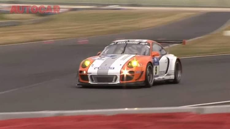 Video: <i>Autocar</i> and <i>Top Gear</i> test out the Porsche 911 GT3 R Hybrid