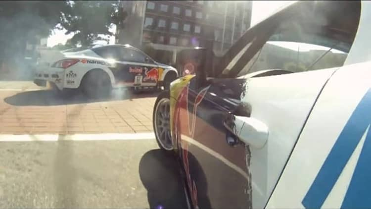 Red Bull drifts through downtown Atlanta