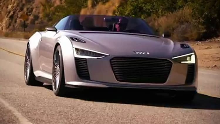 Audi e-tron Spyder struts its stuff in Malibu