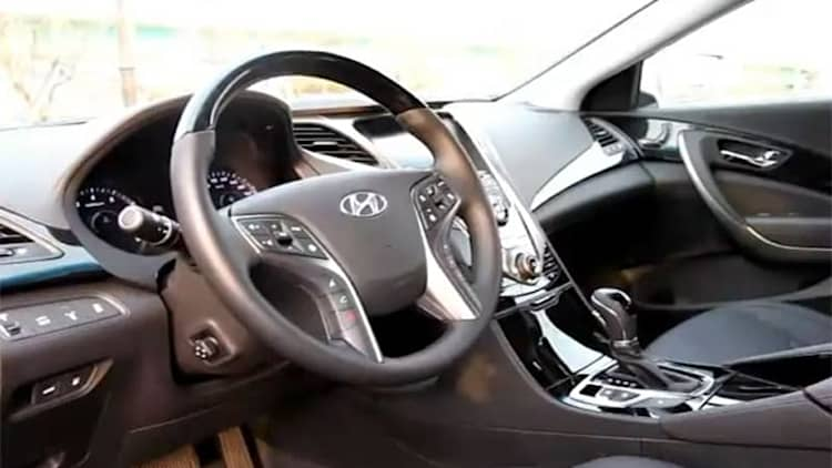 This is what the interior of the next Hyundai Azera looks like