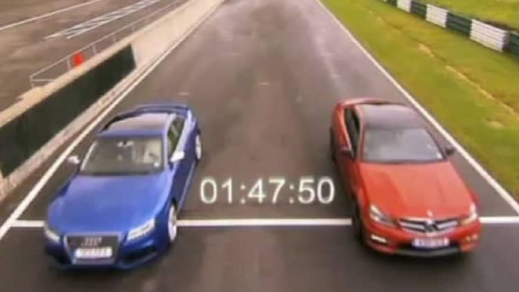 <i>Fifth Gear</i> lines up Audi RS5 vs. Mercedes-Benz C63 AMG Coupe