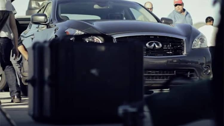 Infiniti takes us behind the scenes in World's Fastest Hybrid vid