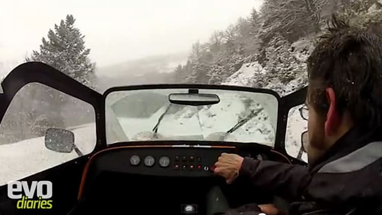 Hardcore x2: How to flog a Caterham Supersports up a snow-covered French mountain