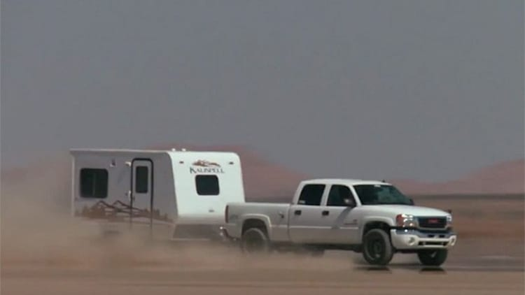 <i>Diesel Power</i> sets land speed towing record at 141.998 mph